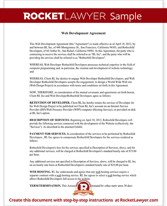 Website Development Agreement Samples