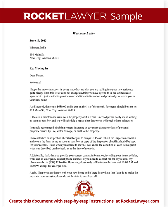 Welcome Letter Template Free Welcome Letter