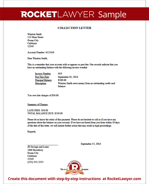 Collection Letter Form Template Test