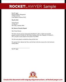 Security Deposit Itemization Letter from www.rocketlawyer.com