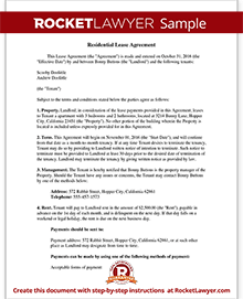 Lease Agreement - Free Rental Agreement Form, Contract