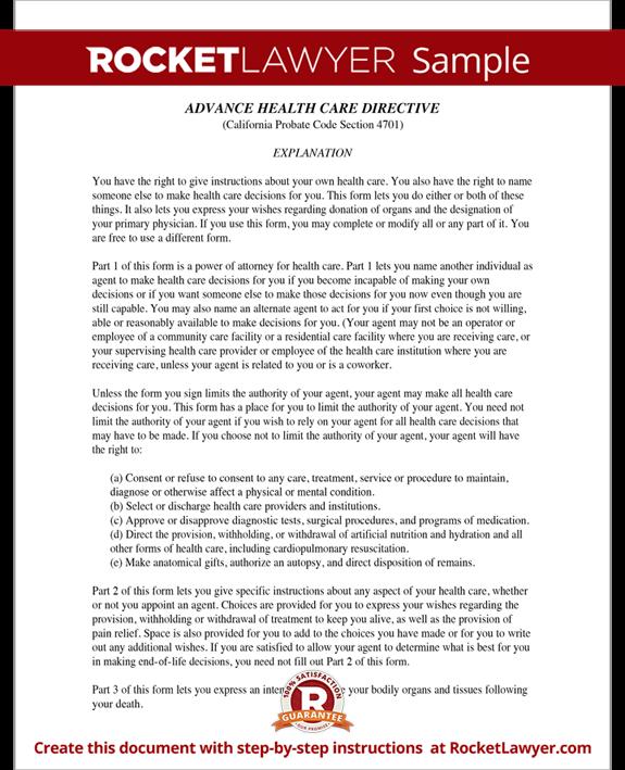 advance care plan form pdf