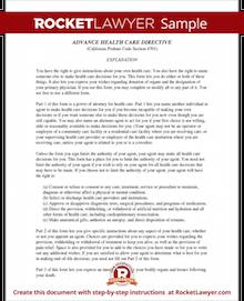 Sample Advance Directive