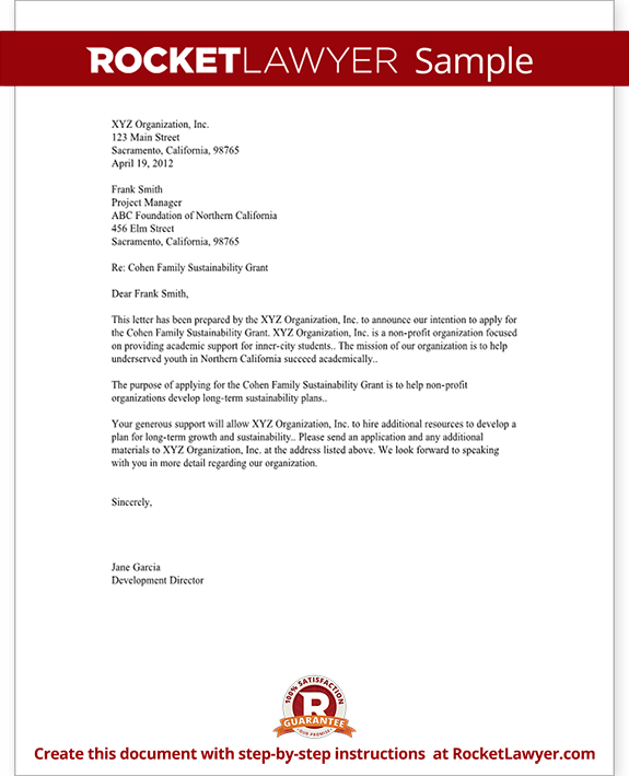 Letter of Intent for Business Purchase Sample Template