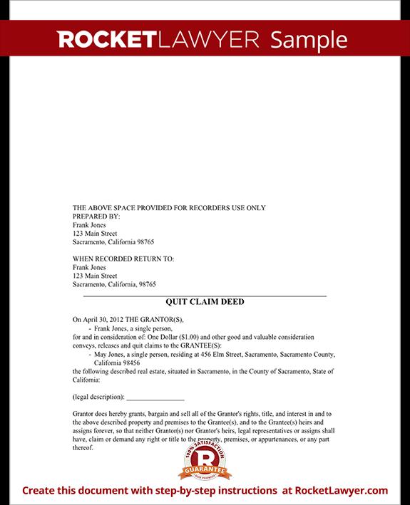 Sample Quitclaim Deed
